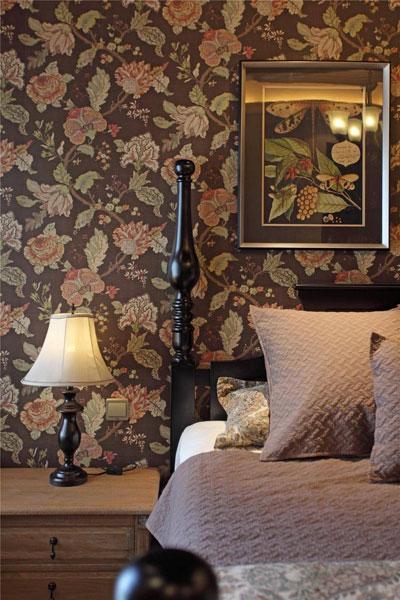 美式浪漫卧室墙纸设计图片图片