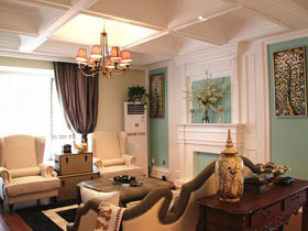 浪漫法式新古典三居 有魅力的空间设计