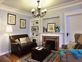 98平美式三居设计 很有魅力的异域情调
