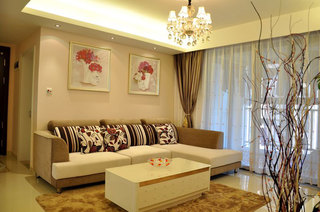 温馨时尚客厅沙发设计效果图