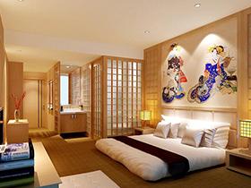 在日式和风中沉睡 12款日式卧室背景墙设计