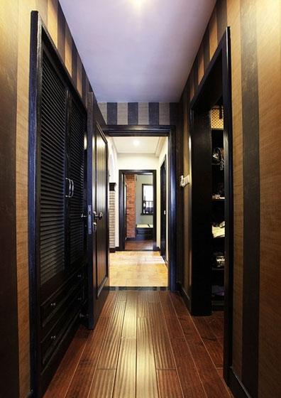 中式个性过道走廊设计效果图