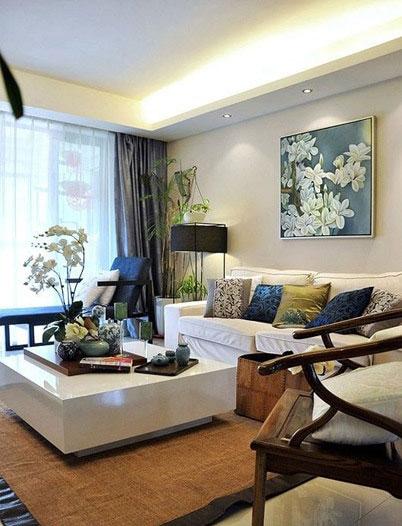 中式风格三居室唯美120平米装修效果图