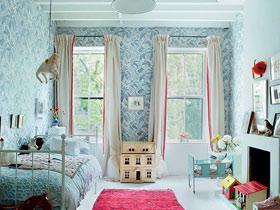 清新條紋窗簾 13款飄窗窗簾效果圖