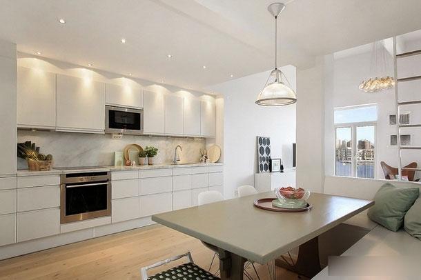 白色简洁厨房设计效果图