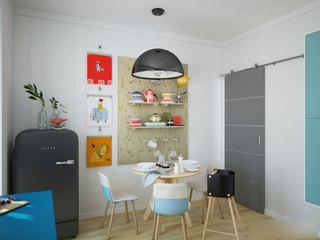 温馨餐厅餐桌设计效果图