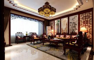 中式古典客厅设计效果图