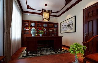 中式古典书柜设计效果图