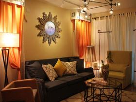 暖橙色简欧混搭风二居 超有魅力的家