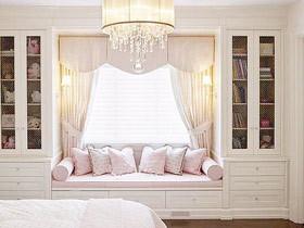 提高卧室视野 15款清新卧室飘窗设计
