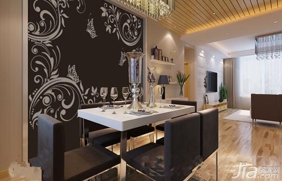 设计要点:米黄硅藻泥背景墙清新素雅搭配以飘逸的对角花更显灵动,深