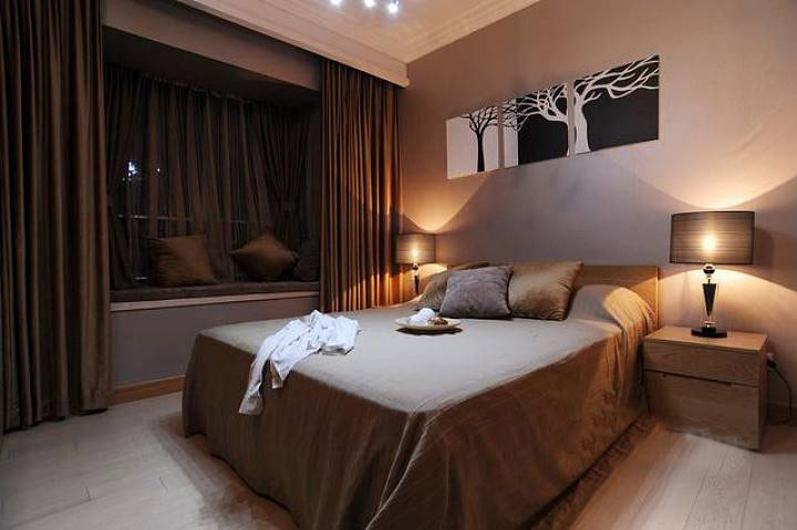 中式卧室飘窗效果图