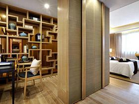 客厅书房效果图 巧用隔断变两室