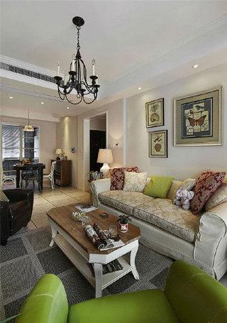 实用美式沙发背景墙设计效果图
