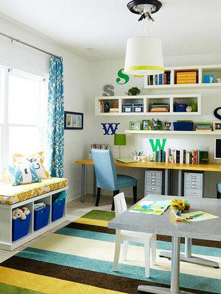 多彩儿童书房设计
