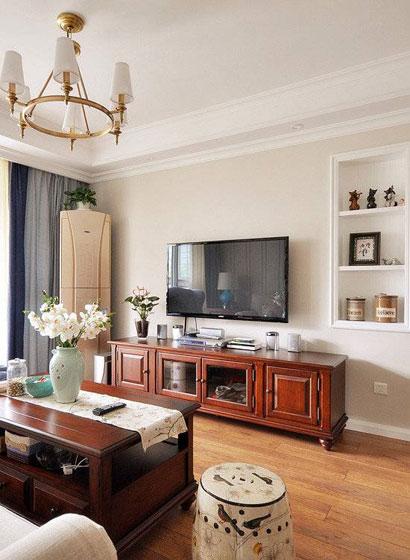美式电视背景墙设计效果图
