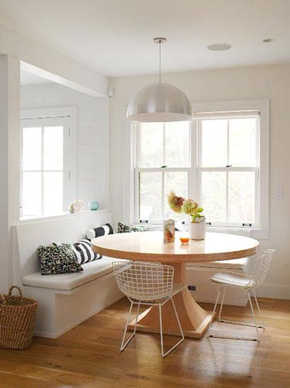 舒适惬意的飘窗改造小餐厅