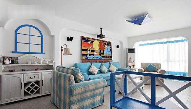 地中海客厅设计效果图
