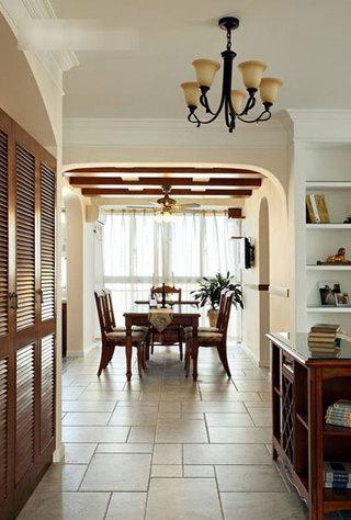 美式风格三居室温馨130平米设计图纸