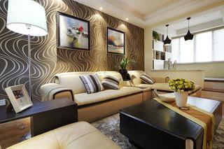 现代温馨沙发背景墙设计效果图