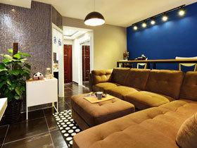 时尚摩登设计 60平现代混搭一居