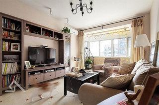 温馨暖色调客厅装修图片