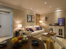 温馨舒适 68平美式二居设计