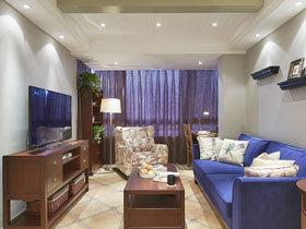 乡村美式田园三居室 体验蓝色的魅力