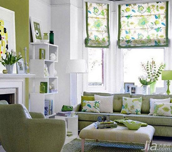 窗帘色调巧设置 变出客厅清新与凉爽