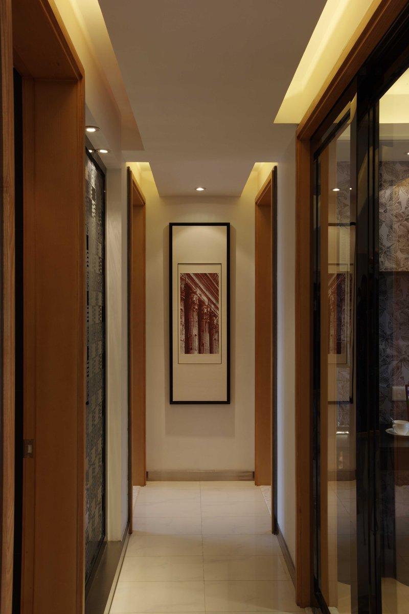 15 20万90平米简约三居室装修效果图,长安花园现代简约装修案例效果图 齐家装修网