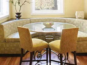 围坐式温馨就餐 12款弧形卡座餐厅设计