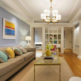 美式风格二居室时尚80平米装修效果图