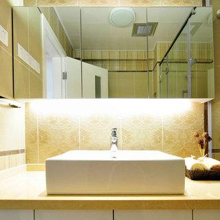 日式简洁洗手台设计效果图