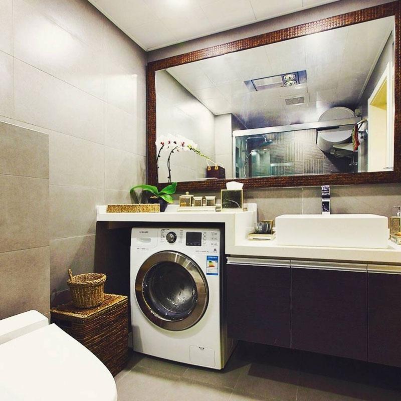 美式简洁卫生间设计效果图高清图片