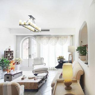 地中海清新客厅设计效果图