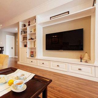 美式简约电视背景墙设计效果图