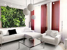 清新绿植爬上墙 15款家居绿植装饰墙