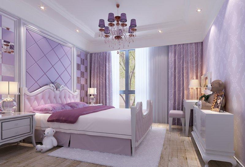 5-10万100平米欧式二居室装修效果图,景湖时代城简欧图片