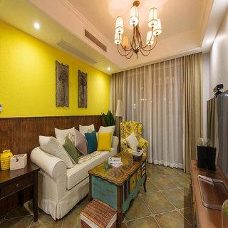 美式客厅沙发设计效果图