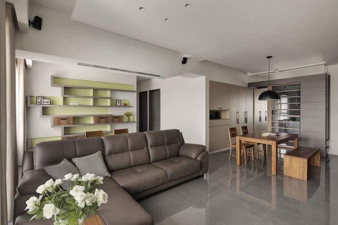 现代时尚沙发背景墙设计效果图