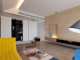 活泼调性色彩 122平现代简洁三居