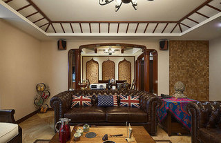 东南亚风格公寓120平米效果图