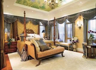 美式情调客厅设计效果图
