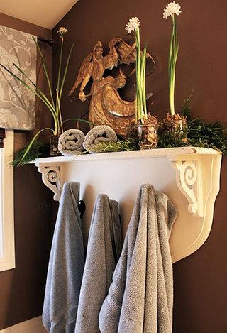 洗手台上方便捷毛巾架设计