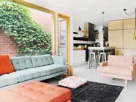 狭长平方改造 100平现代公寓