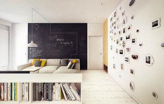 简约照片墙设计效果图