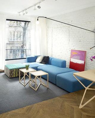 蓝色组合沙发