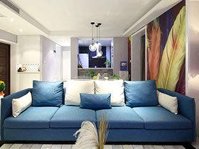 沉迷蓝色风情 14个蓝色沙发推荐