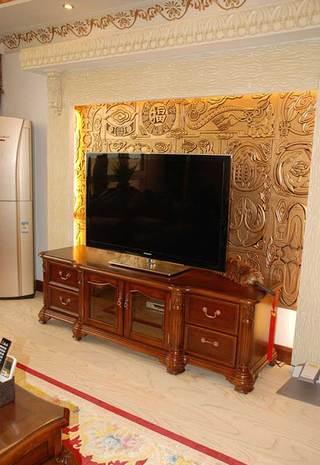 美式温馨电视背景墙设计图片