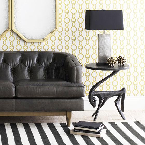 黑白色英伦风格客厅